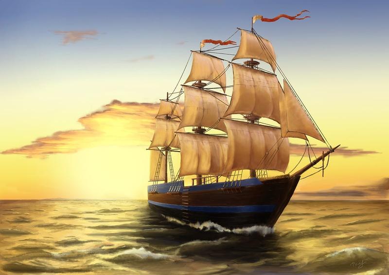 хорошо старинные корабли открытки удобные двух