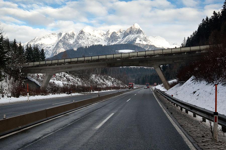Австрийские автомобильные дороги практически идеальны