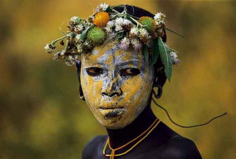 Женские фото диких племен планеты