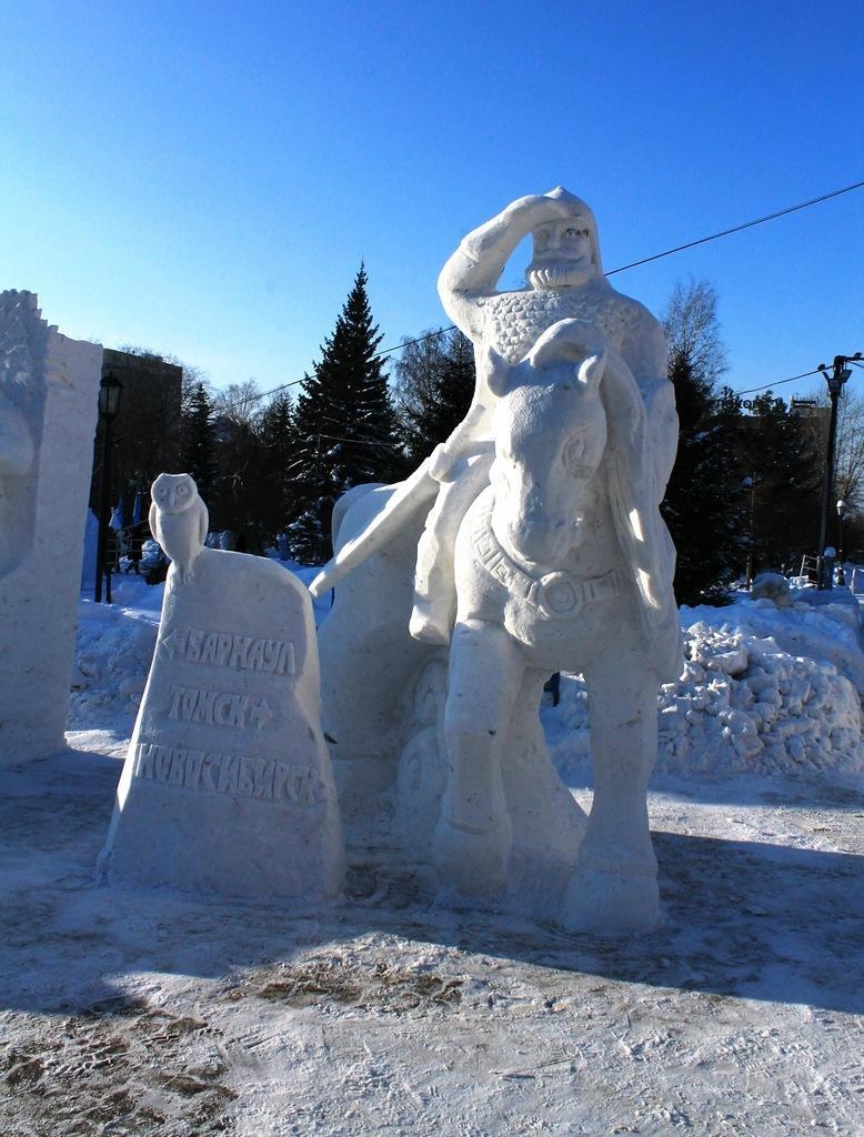 скульптуры снежные с детьми фото велопарковки часто