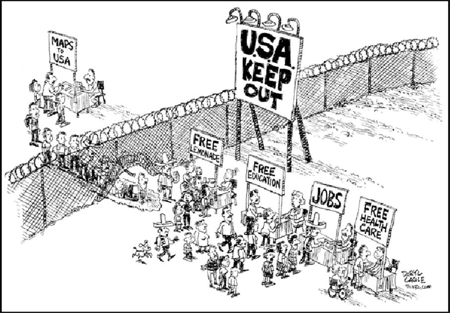 an analysis of the illegal immigration issue in the united states of america Economic analysis what immigration means and the desire of immigrants to work in the united states will immigration remains a hotly debated issue by.