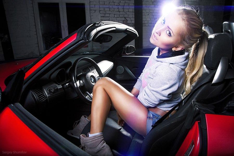 видео девушек в машинах