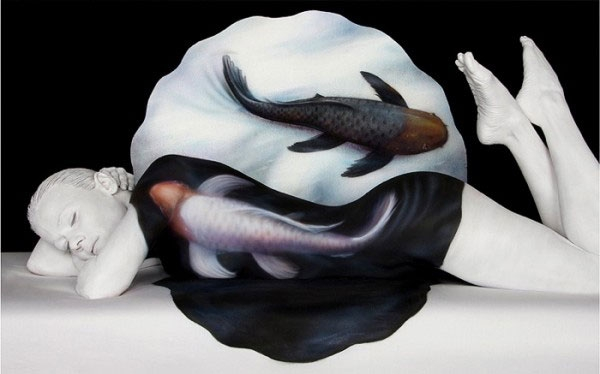 Body Painting Optical Illusions фото, фотоприкол