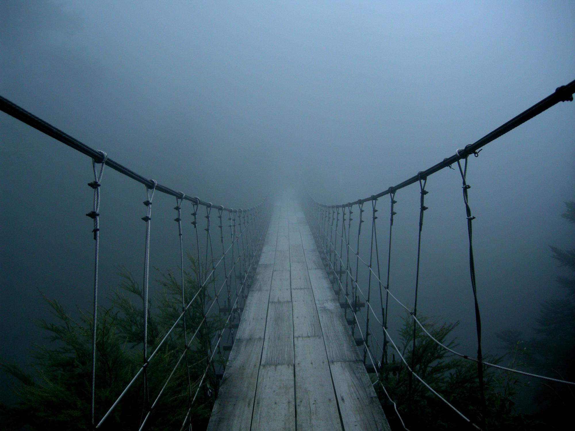 Картинки мост и туман
