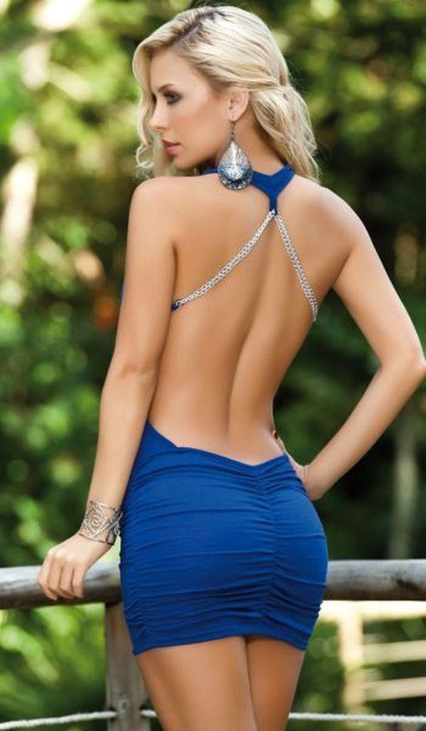 Короткое платье ню