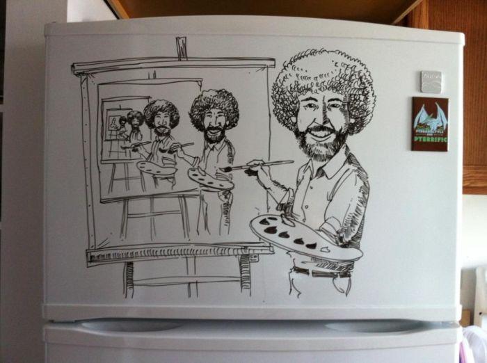 черно белые картинки холодильник прикольные на
