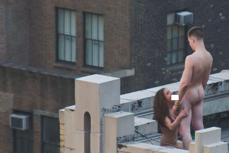 Секс вна крыше