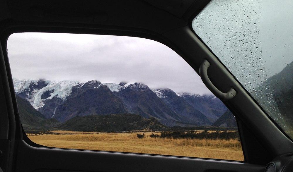 Фото вид дороги из окна машины