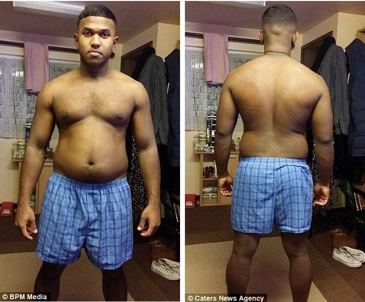 У толстого мужика