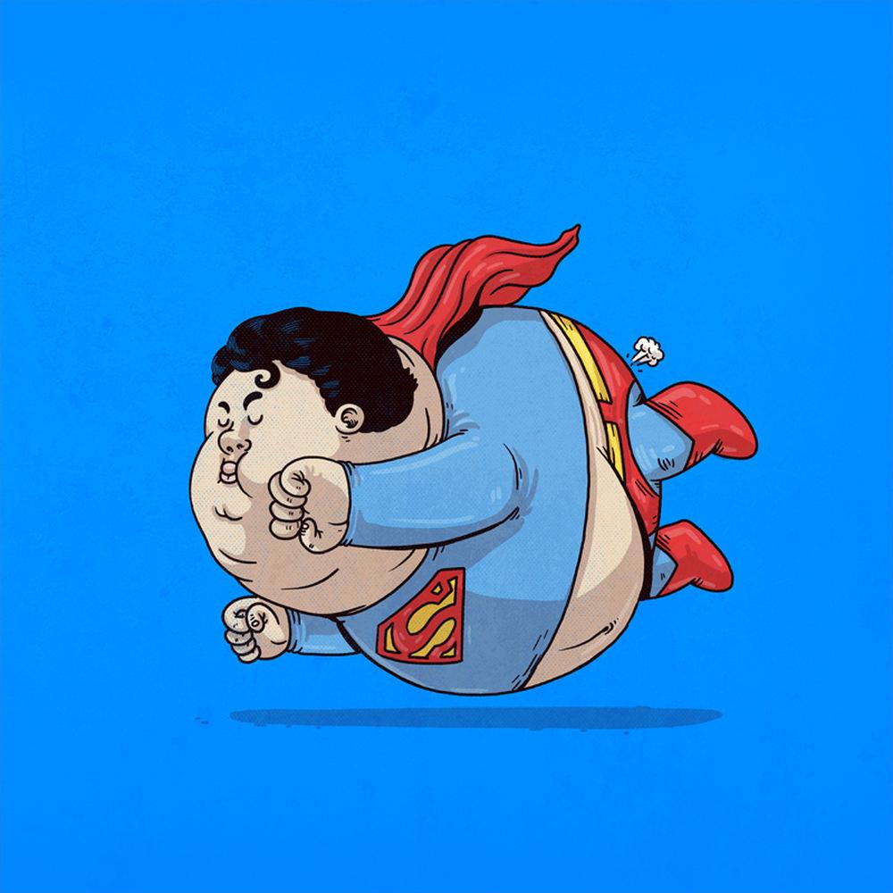 Открытка день, супергерои рисунки смешные