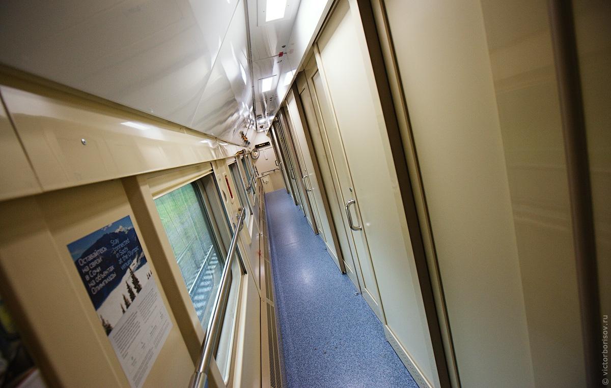 Фото двухэтажного поезда москва адлер внутри