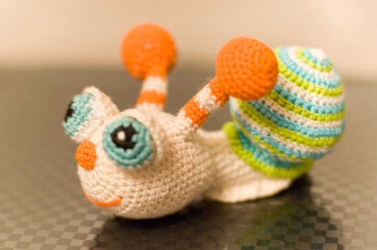 вязаная амигуруми улитка вязание игрушек для детей