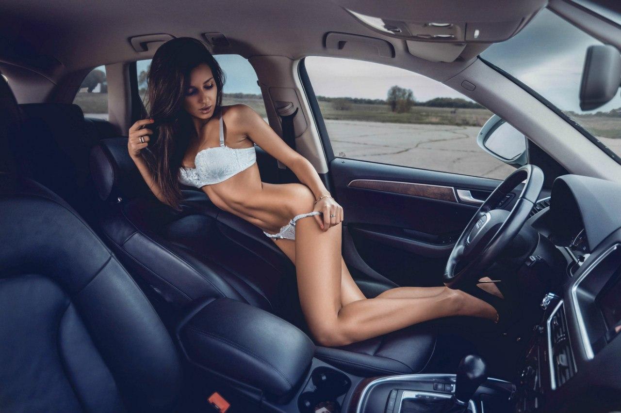 Красивые секс девушк за рулем