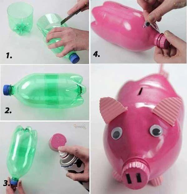 Поделки из бутылок, пластиковые поделки, поделки 33