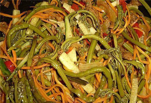 Салат из соленого папоротника по корейски рецепт