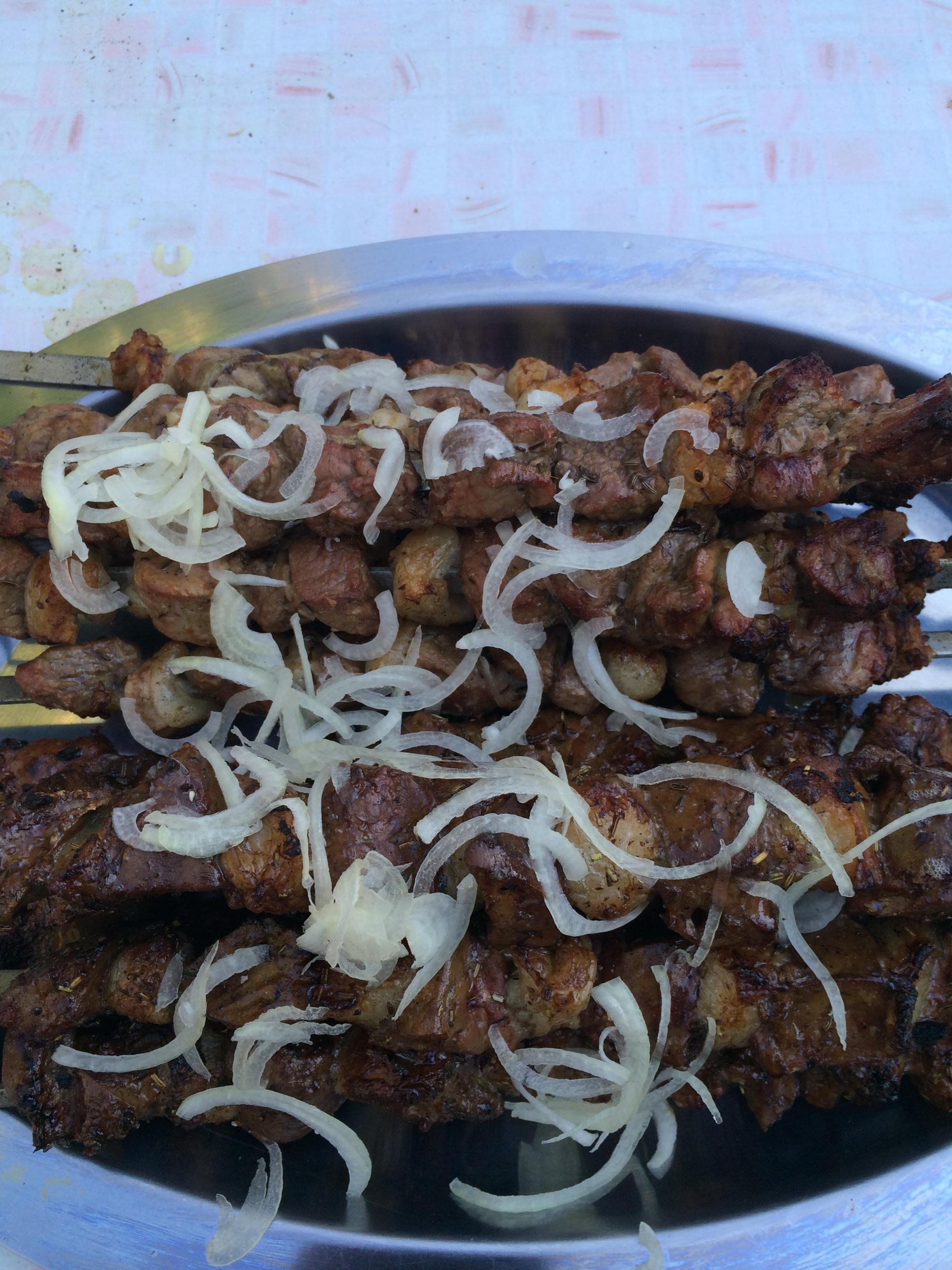 Думба джигар - узбекский шашлык из печени + шашлык из парного барашка