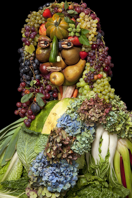 Человек из овощей и фруктов картинка