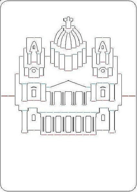 макет открытка здания сенсорных устройствах