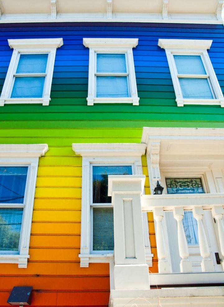 радужные дома фото пожелать мира благополучия