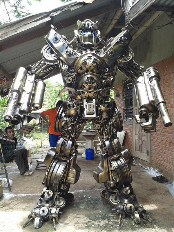 роботы из металла фото