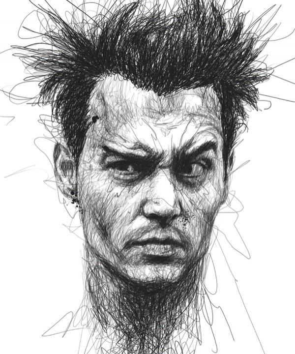 Малазийский художник Винс Лоу открыл новый стиль рисования портретов #знаменитости, #искусство, #портрет, #рисование, #творчество