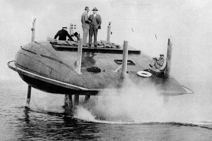Эволюция кораблей на подводных крыльях