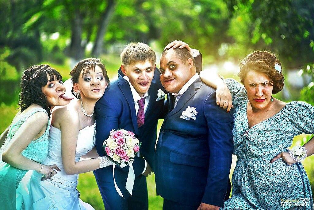 Смешная свадьба в картинках