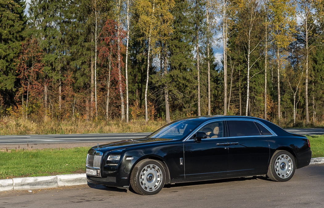 Из Питера в Москву на Роллс-Ройсе ghost, rolls-royce