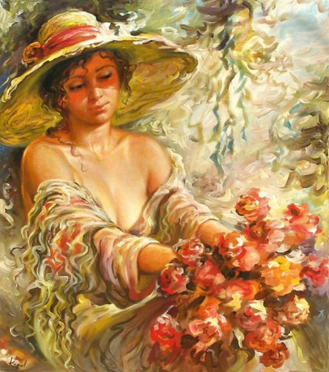 Картинки живопись женщины