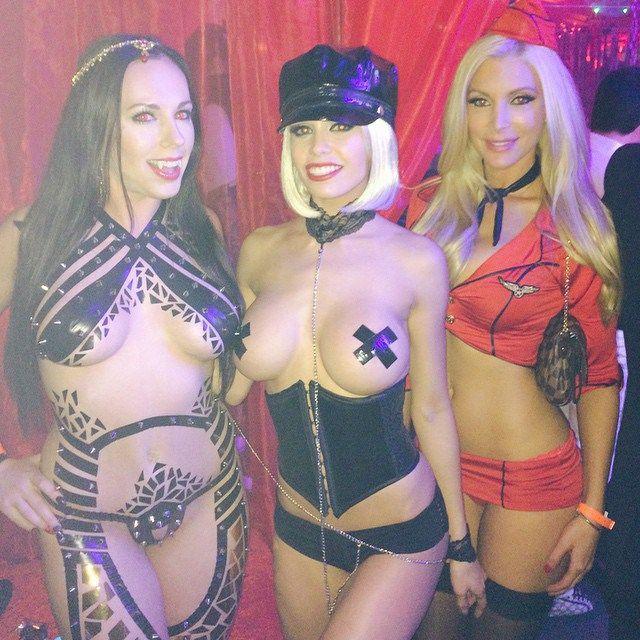 Topless halloween parties 4