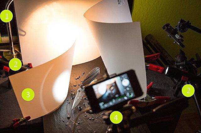 как выбрать фонарик для фотографирования место человека