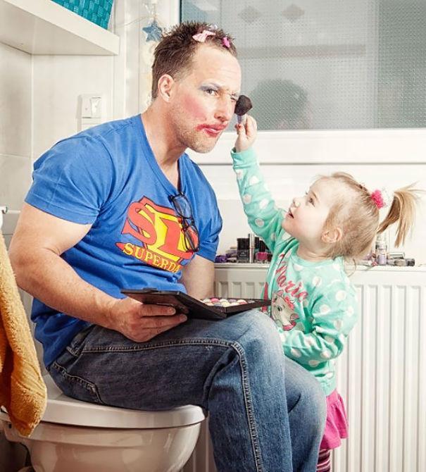20 примеров прекрасного отцовства дети, отцы, прикол