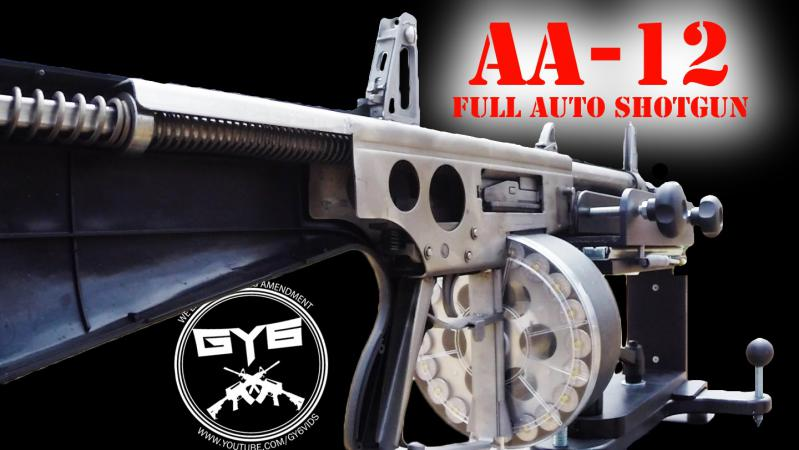 AA-12 Fully Automatic Shotgun--NEVER BEFORE SEEN LIKE THIS!