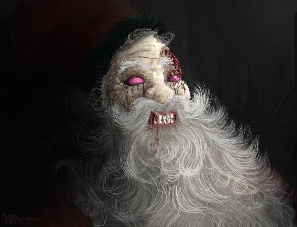 Дед мороз картинки страшные, дню