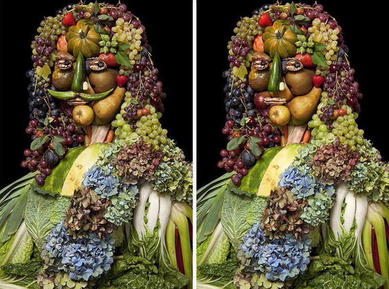 картинки из фруктов лицо холодного фарфора