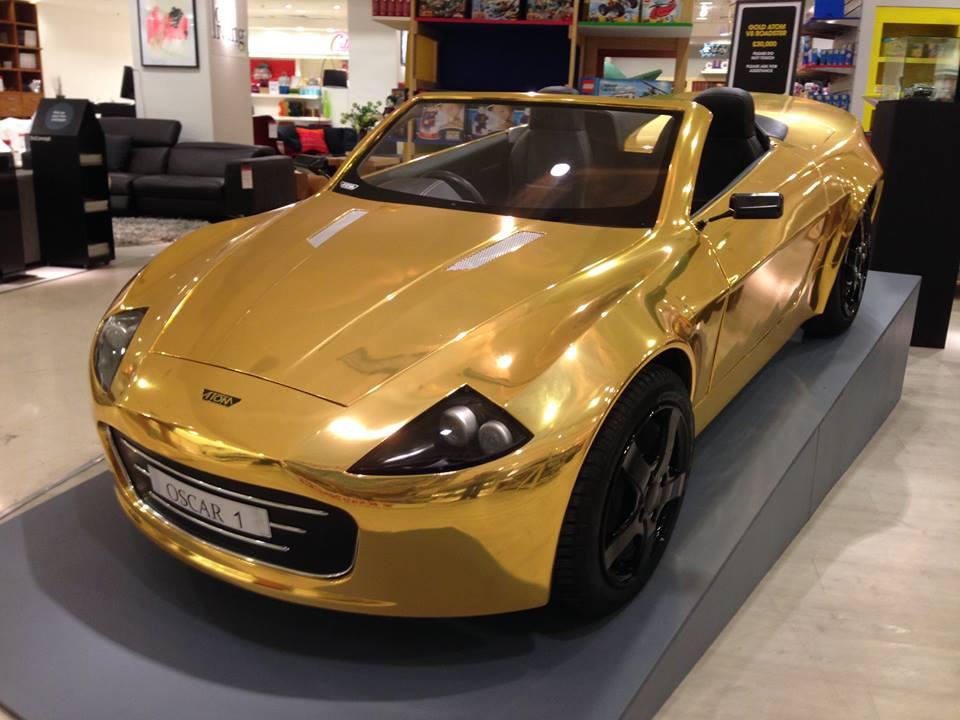 Фото золотого автомобиля