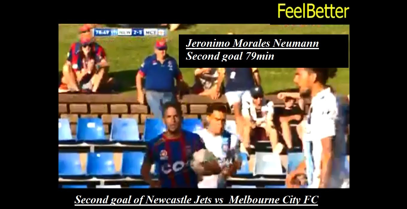 Newcastle Jets Jeronimo Morales Neumann second goal 79min vs Melbourne
