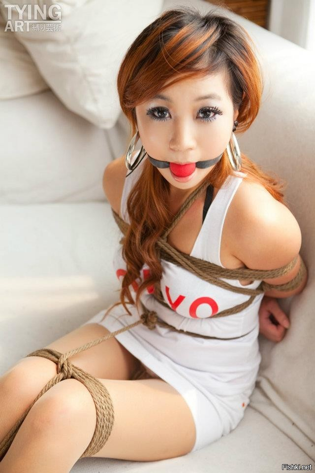 Asian teens tied up — 9
