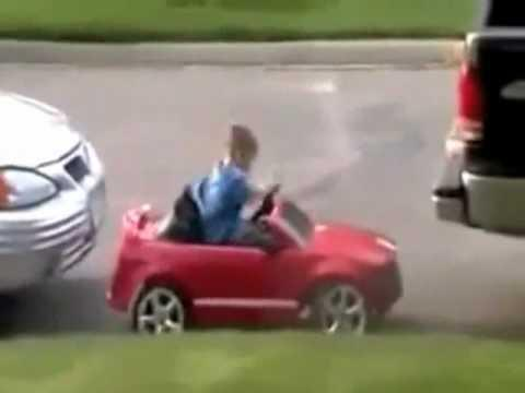 Kid Shows How to Parallel Park