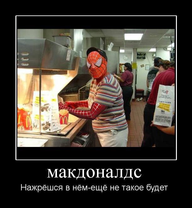 демотиватор про макдональдс касается