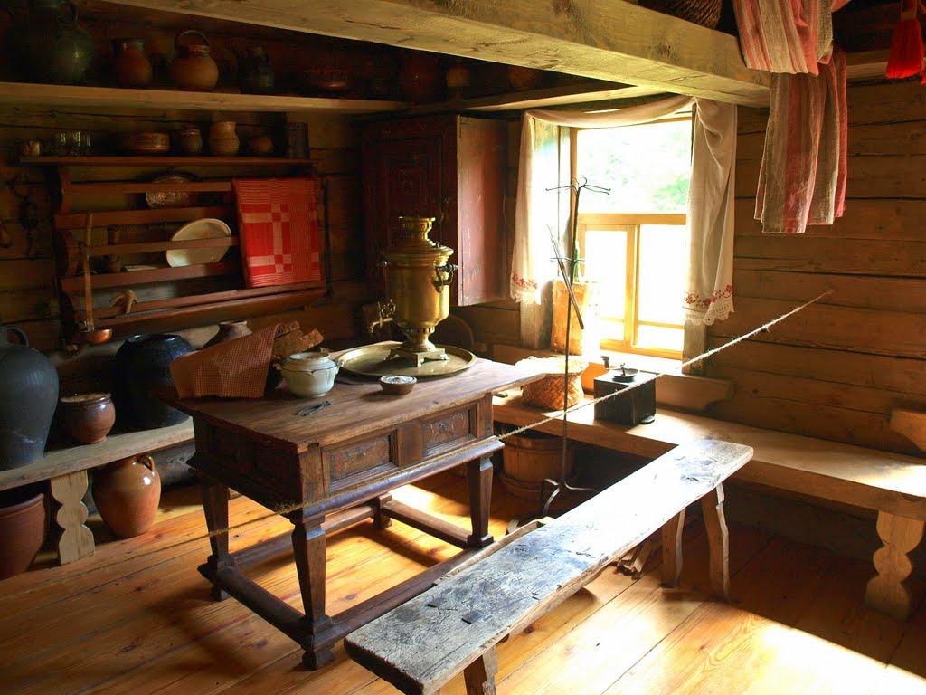 Картинка стола деревенского домашних