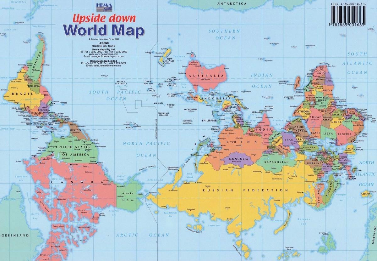 Как рисуют карту мира в разных странах