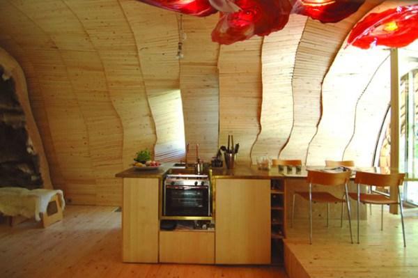 Этот маленький дом снаружи похож на груду дров, но внутри... восхищение, дом, дрова