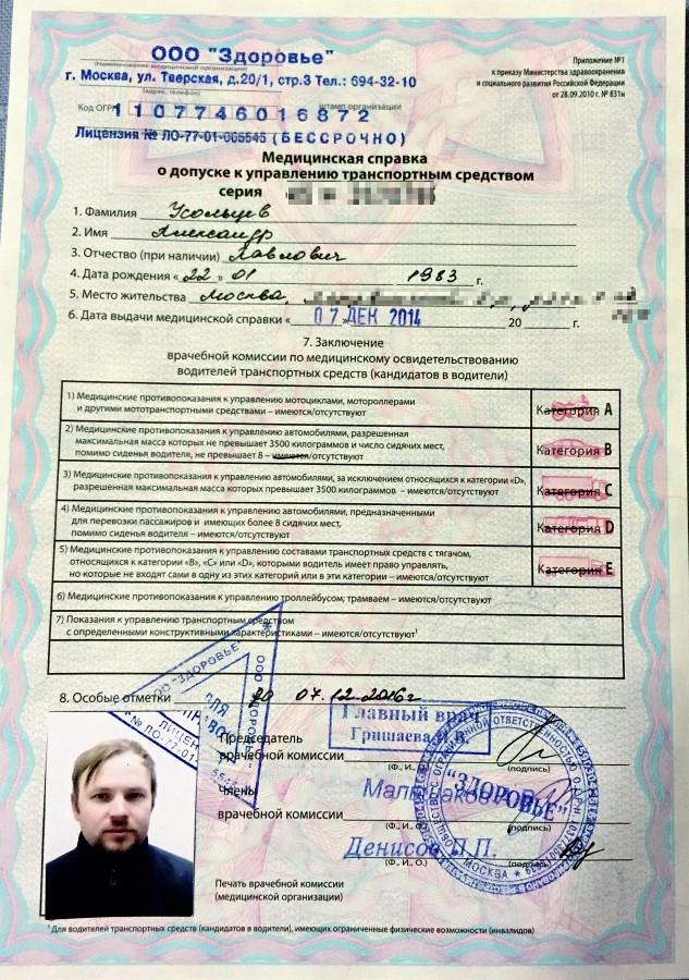 Медицинская справка для водительских прав минск Справка о надомном обучении Саларьево