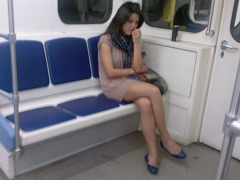 Частное интим фото с московского метро Кладу