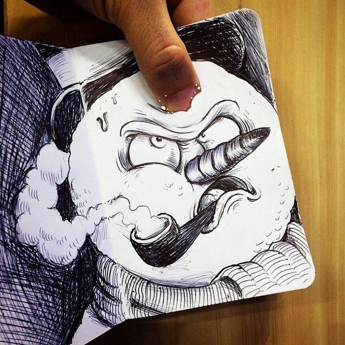 Прикольные креативные картинки для срисовки