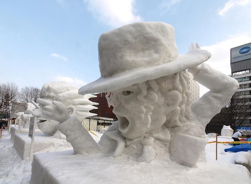 скульптуры снежные с детьми фото однокомнатная