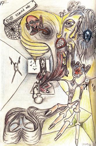 рисунки больных шизофренией-4