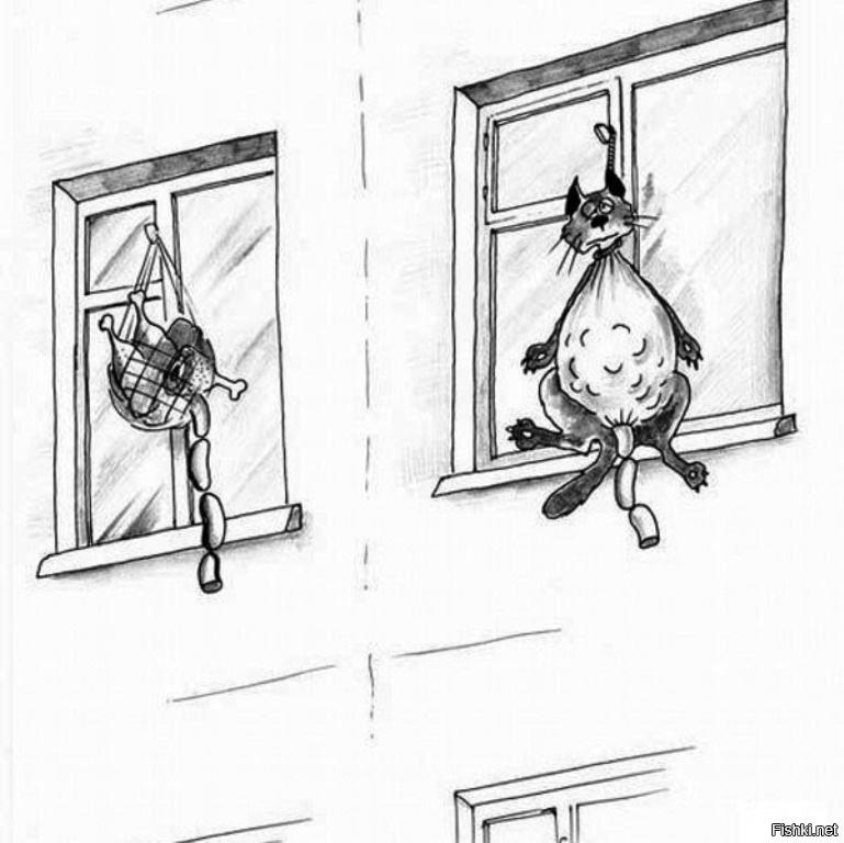 Стиле, смешные рисунки на окно