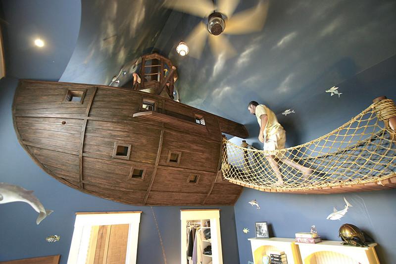 22.  Детская комната в пиратском стиле дизайн, дом, идея, креатив